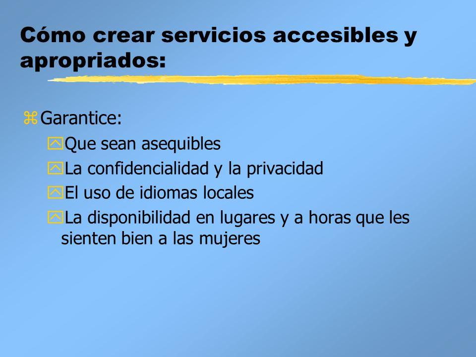 Cómo crear servicios accesibles y apropriados: