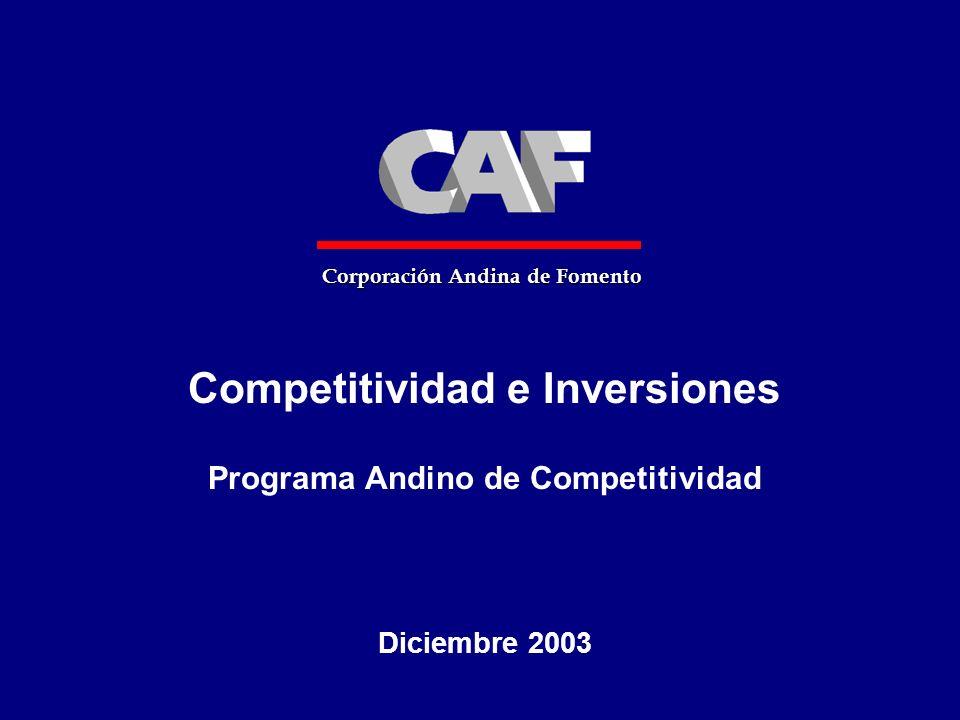 Competitividad e Inversiones Programa Andino de Competitividad
