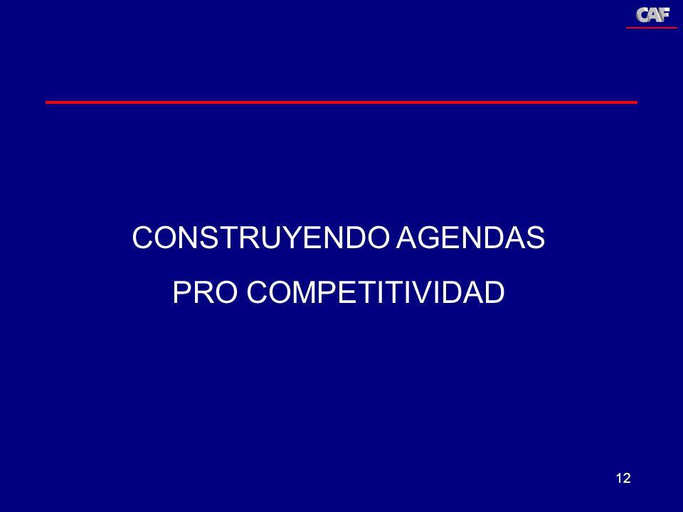 CONSTRUYENDO AGENDAS PRO COMPETITIVIDAD