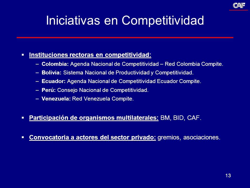 Iniciativas en Competitividad
