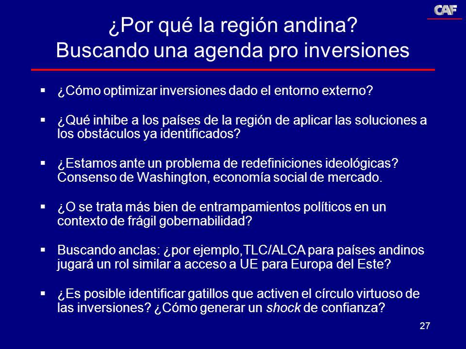 ¿Por qué la región andina Buscando una agenda pro inversiones