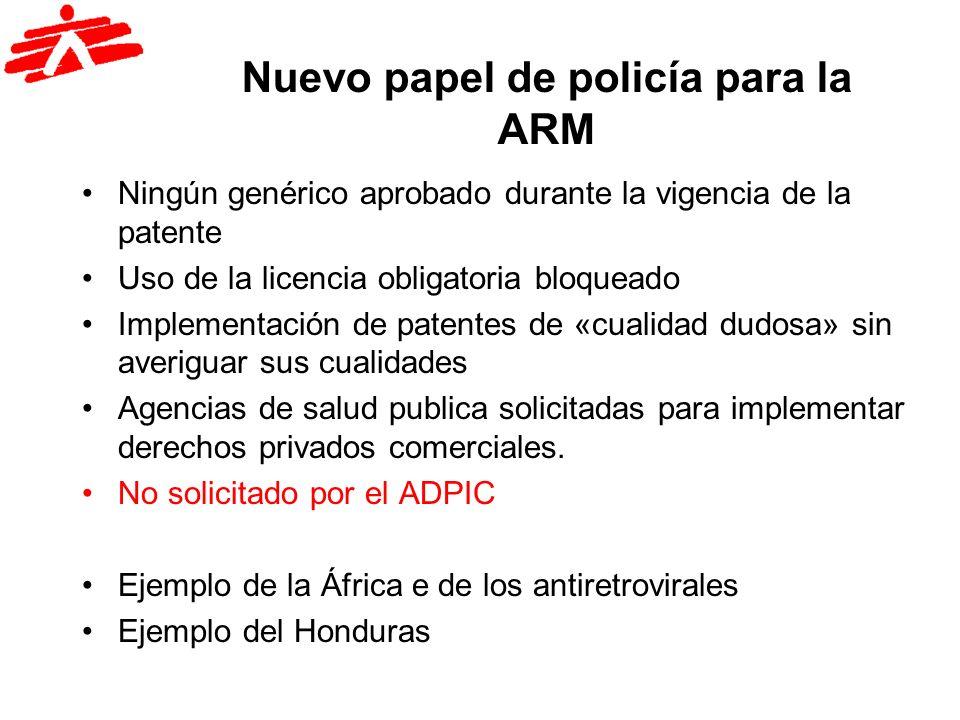 Nuevo papel de policía para la ARM