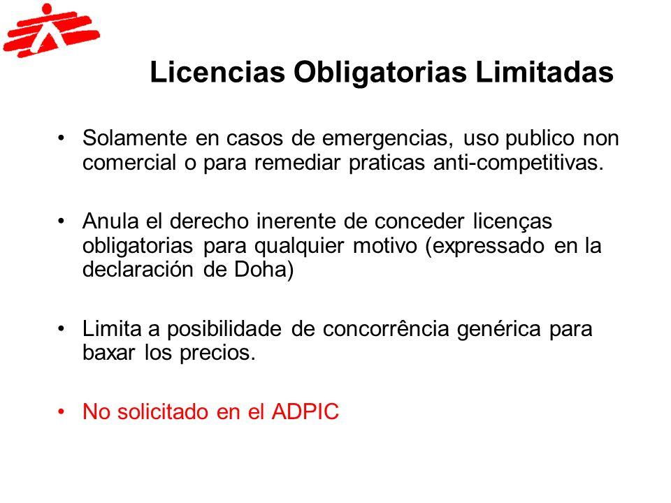 Licencias Obligatorias Limitadas