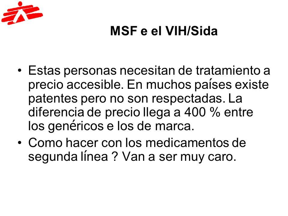 MSF e el VIH/Sida