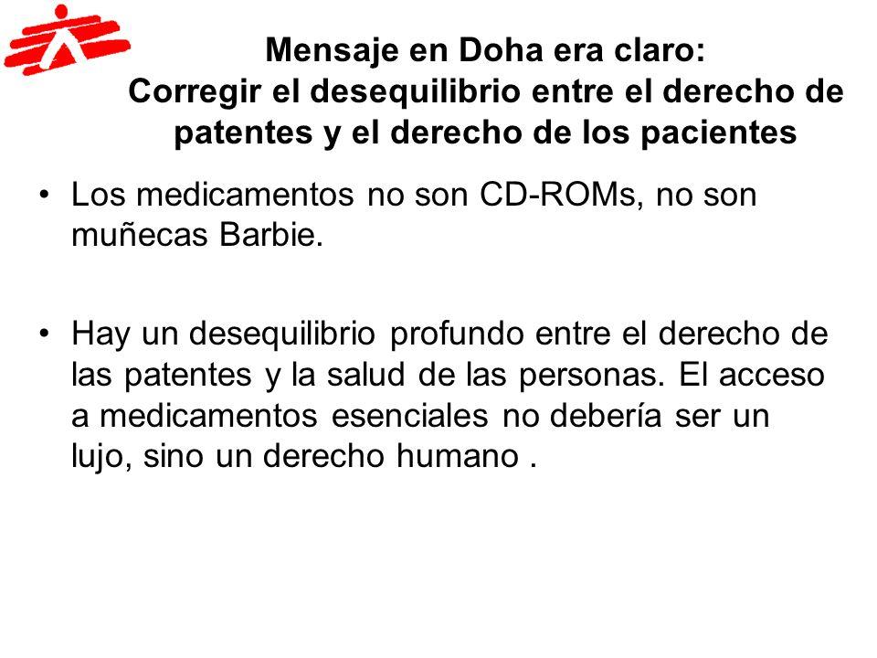 Mensaje en Doha era claro: Corregir el desequilibrio entre el derecho de patentes y el derecho de los pacientes