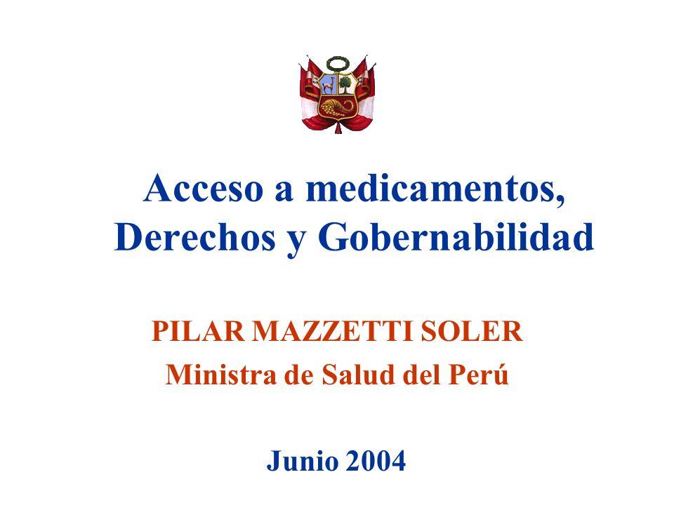 Acceso a medicamentos, Derechos y Gobernabilidad