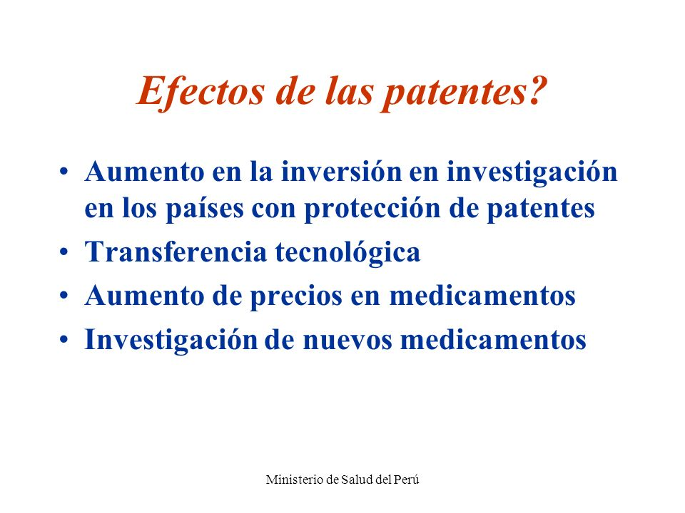 Efectos de las patentes