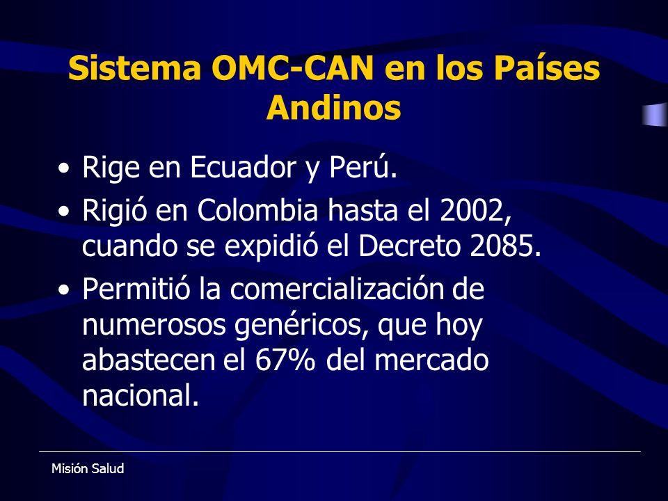 Sistema OMC-CAN en los Países Andinos