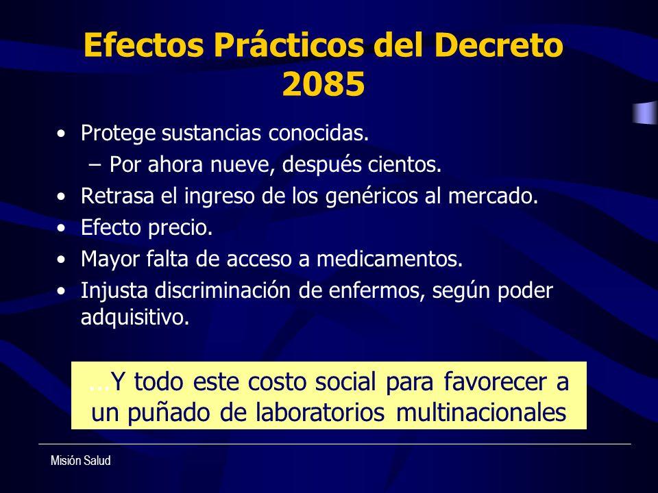 Efectos Prácticos del Decreto 2085