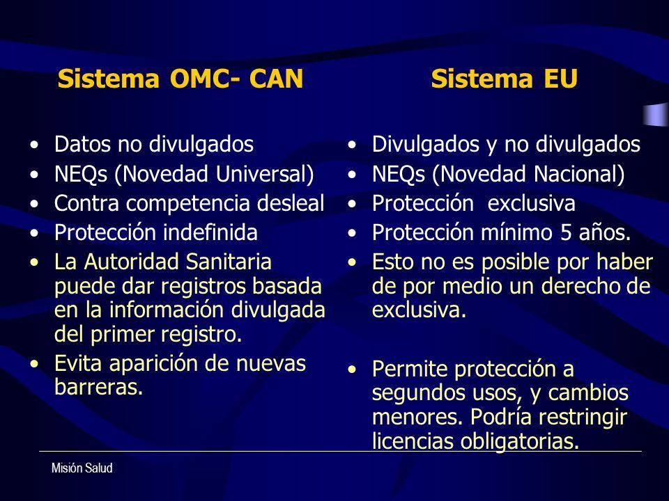 Sistema OMC- CAN Sistema EU