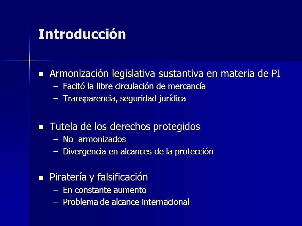 Introducción Armonización legislativa sustantiva en materia de PI