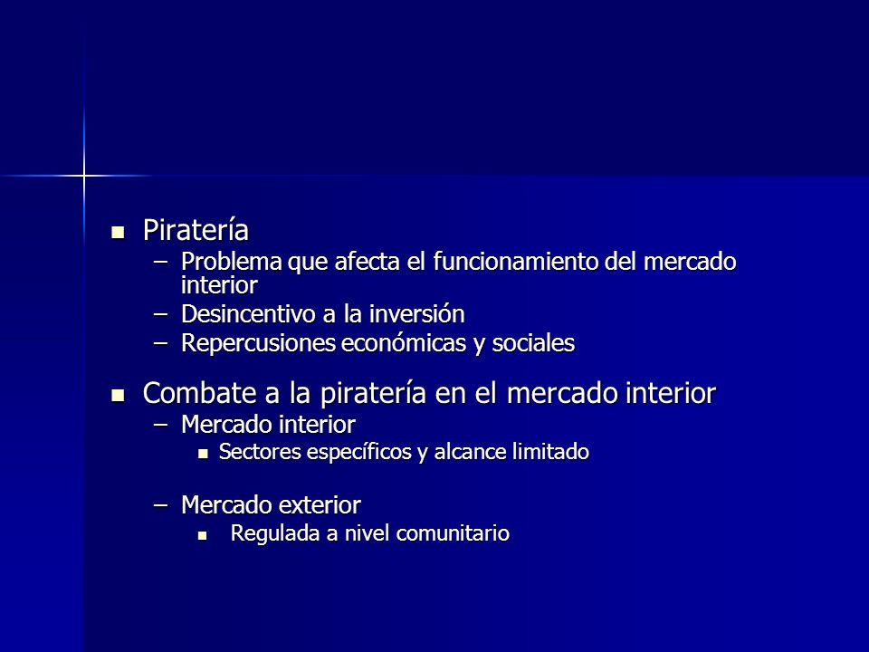 Combate a la piratería en el mercado interior