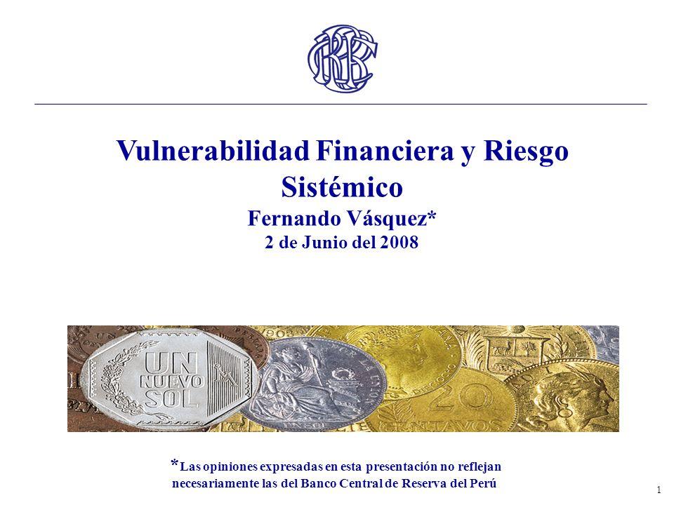 Vulnerabilidad Financiera y Riesgo Sistémico