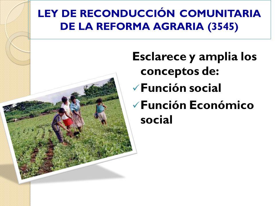 LEY DE RECONDUCCIÓN COMUNITARIA DE LA REFORMA AGRARIA (3545)