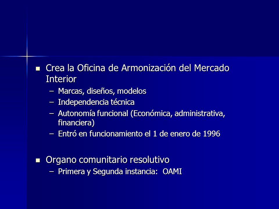 Crea la Oficina de Armonización del Mercado Interior