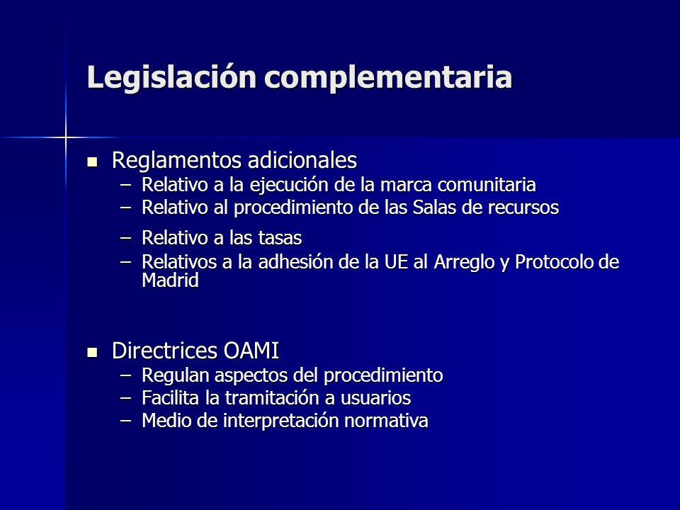 Legislación complementaria