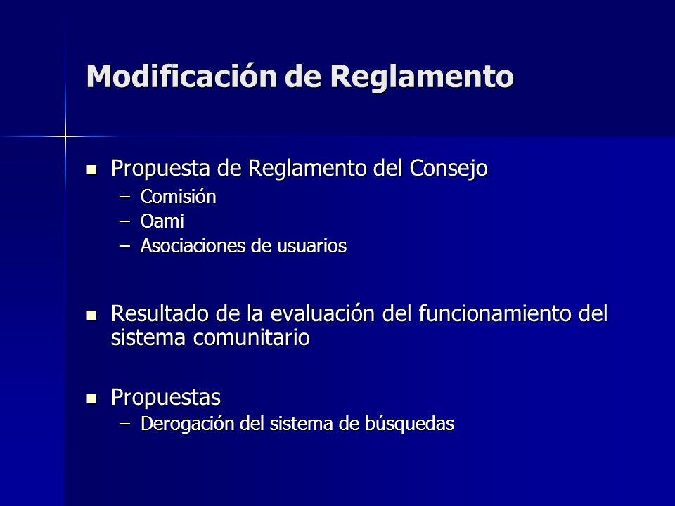 Modificación de Reglamento