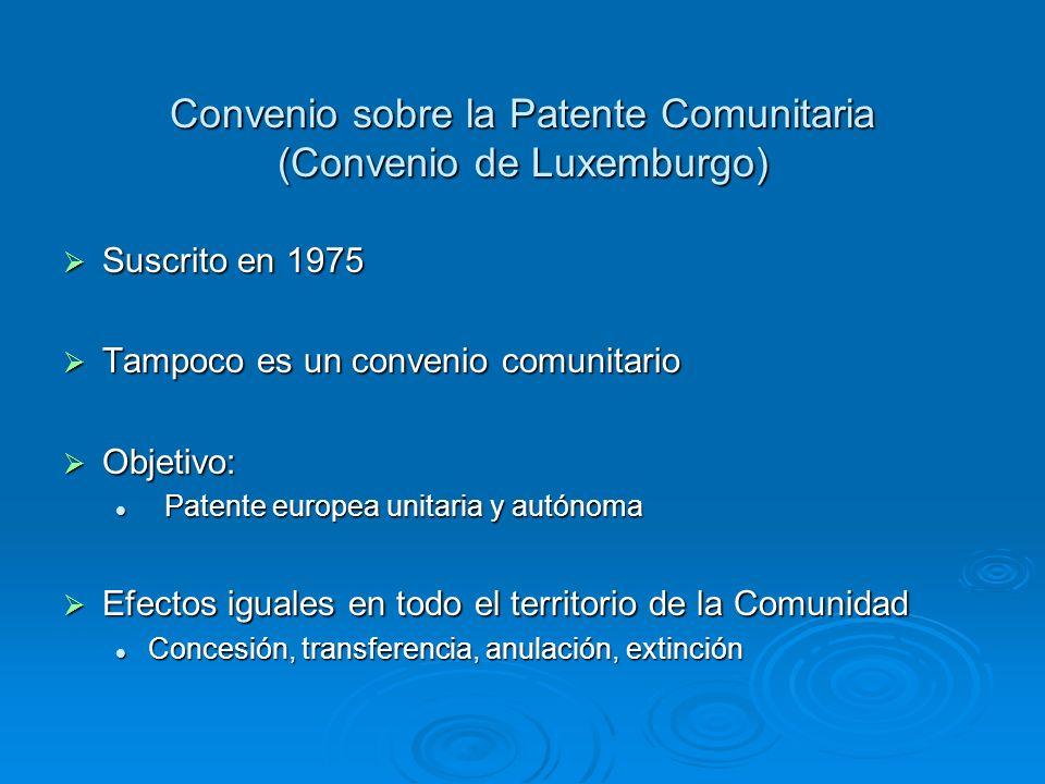 Convenio sobre la Patente Comunitaria (Convenio de Luxemburgo)