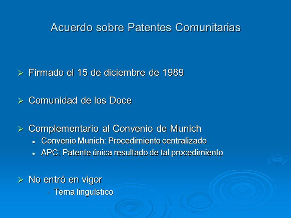 Acuerdo sobre Patentes Comunitarias