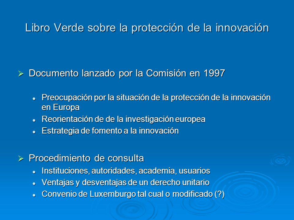 Libro Verde sobre la protección de la innovación