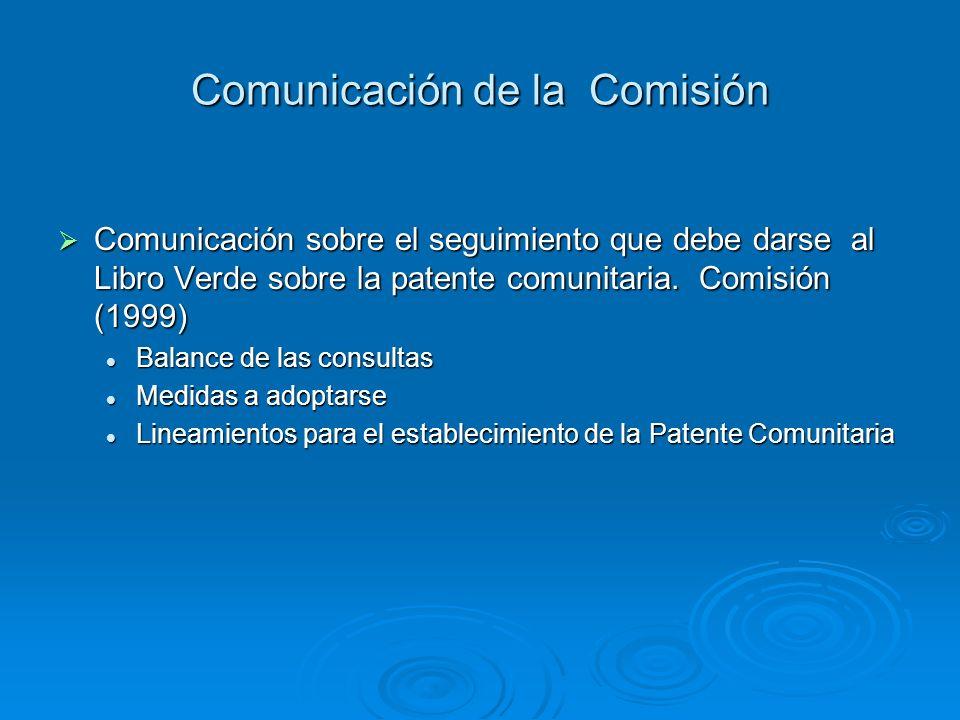 Comunicación de la Comisión