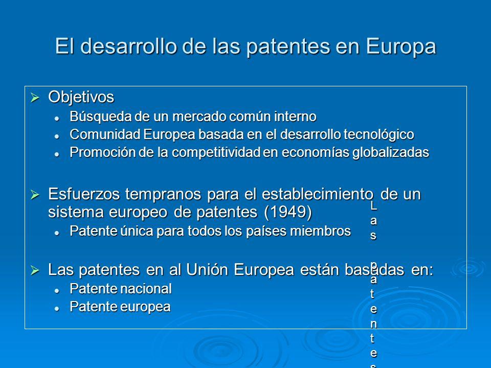 El desarrollo de las patentes en Europa