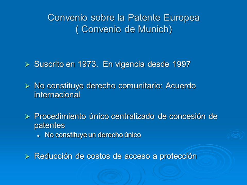 Convenio sobre la Patente Europea ( Convenio de Munich)