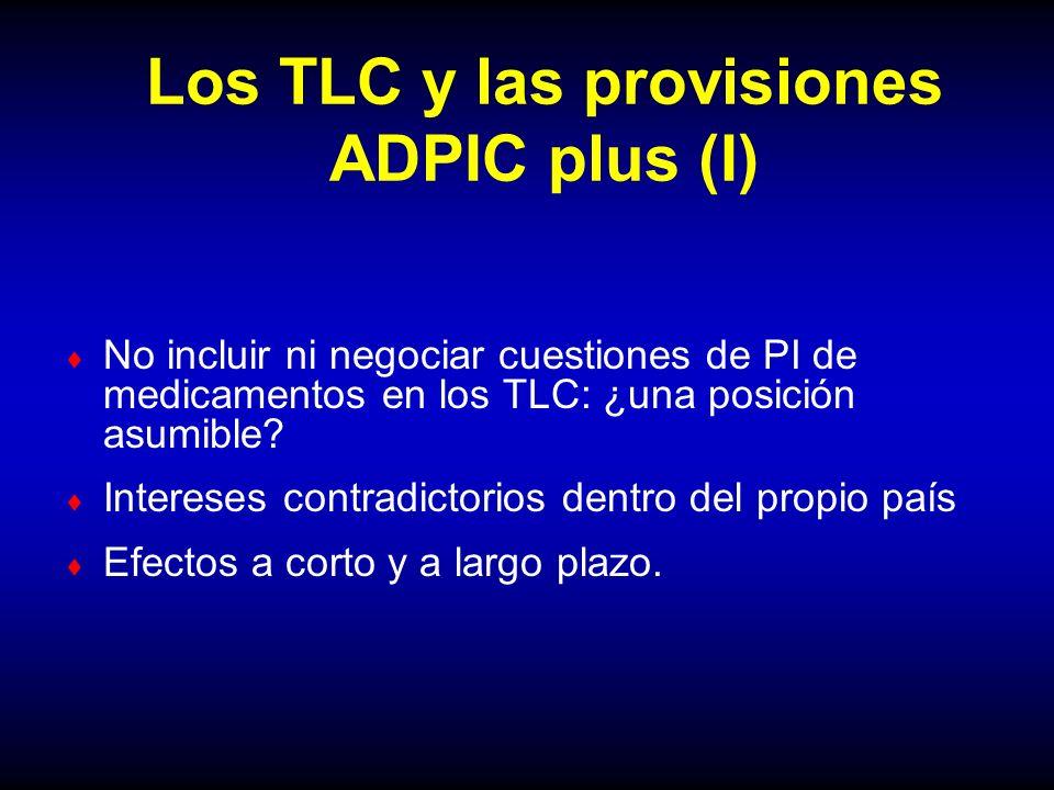 Los TLC y las provisiones ADPIC plus (I)
