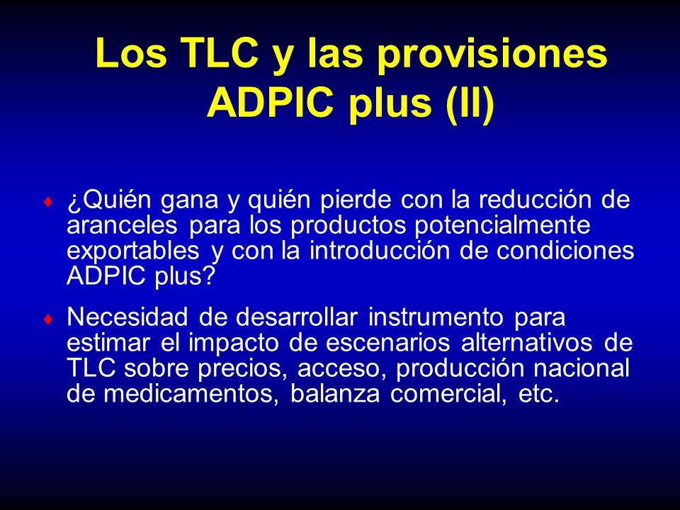 Los TLC y las provisiones ADPIC plus (II)