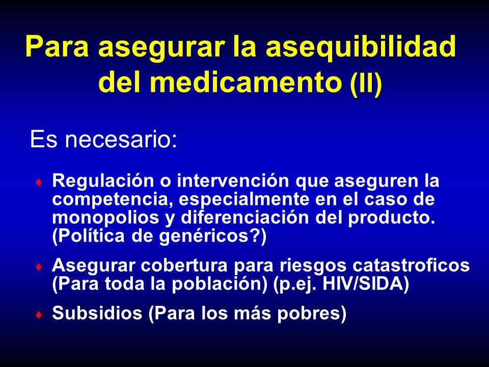 Para asegurar la asequibilidad del medicamento (II)