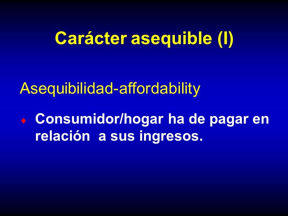 Carácter asequible (I)