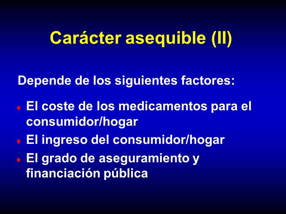 Carácter asequible (II)