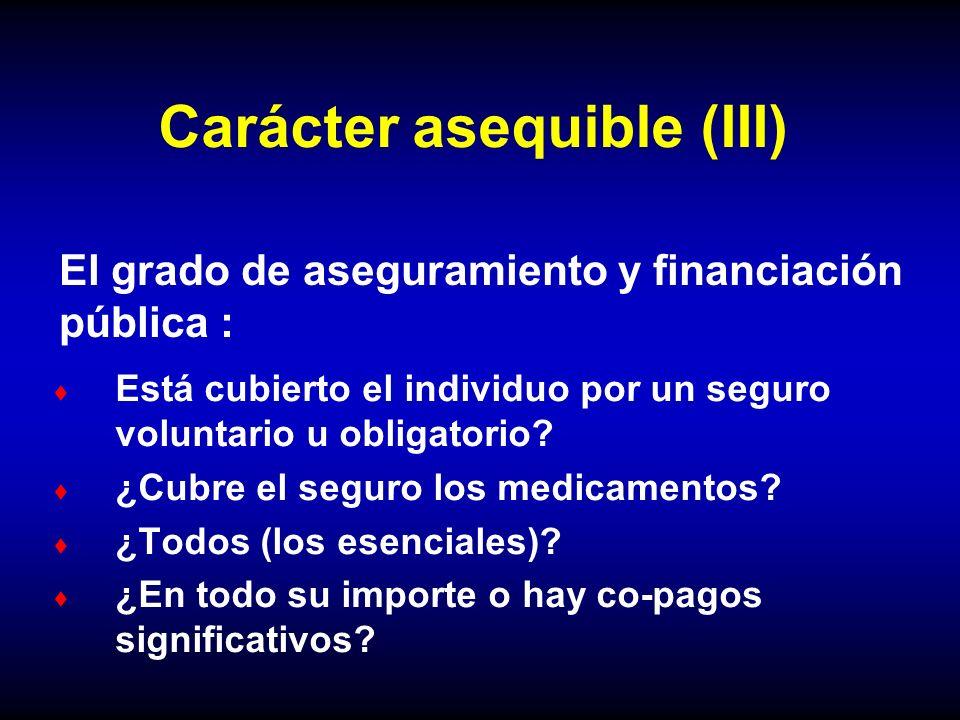 Carácter asequible (III)