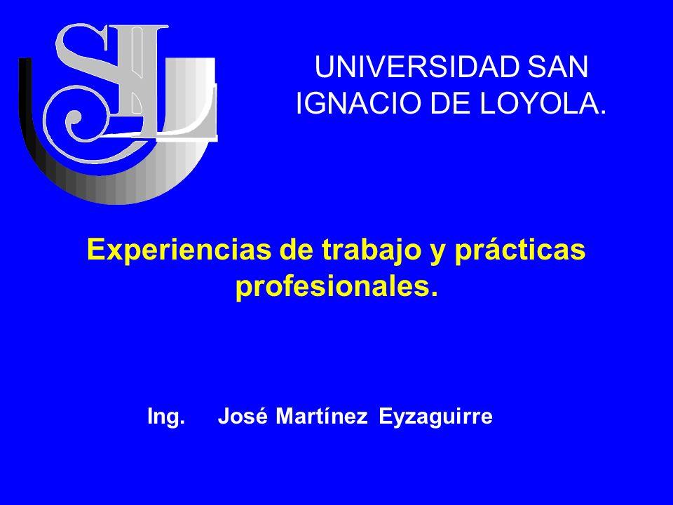 Experiencias de trabajo y prácticas profesionales.
