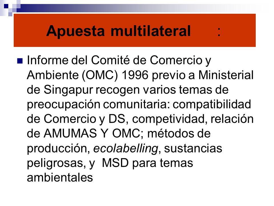Apuesta multilateral :