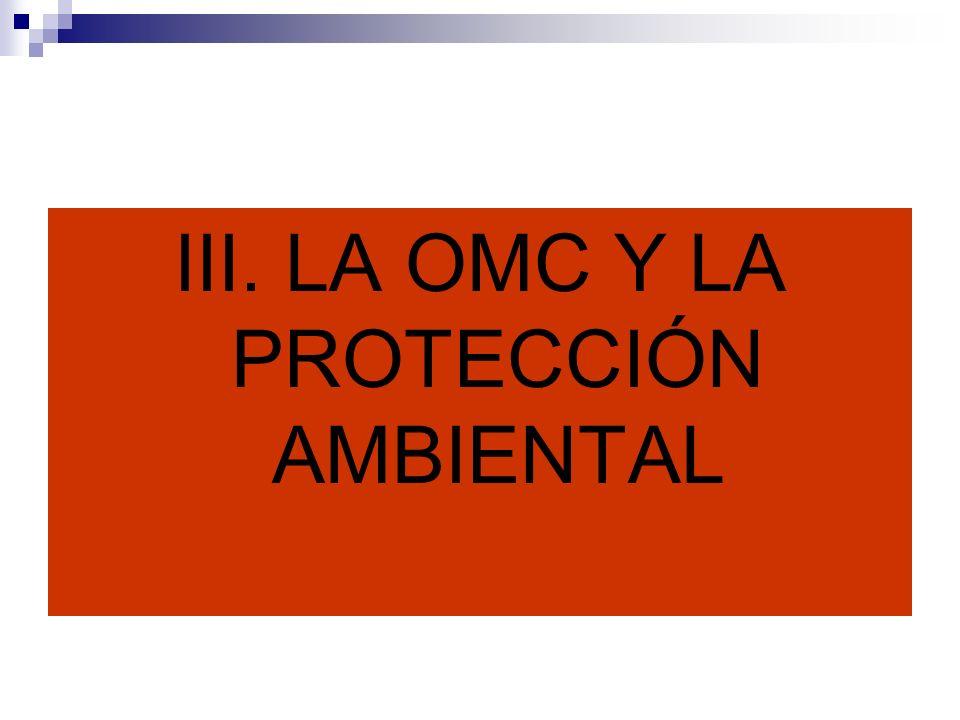 III. LA OMC Y LA PROTECCIÓN AMBIENTAL