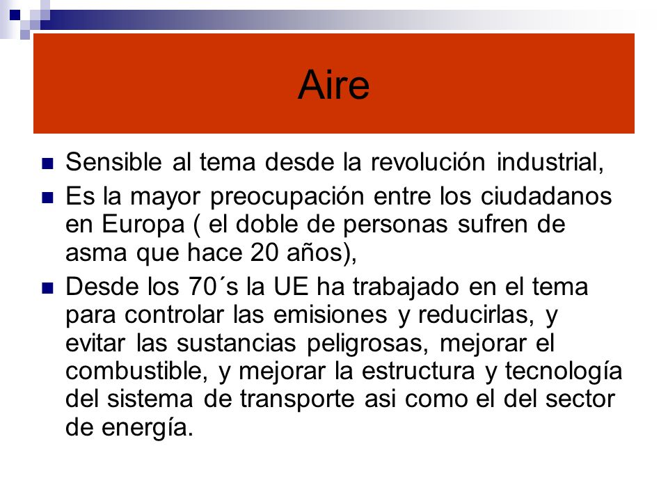 Aire Sensible al tema desde la revolución industrial,