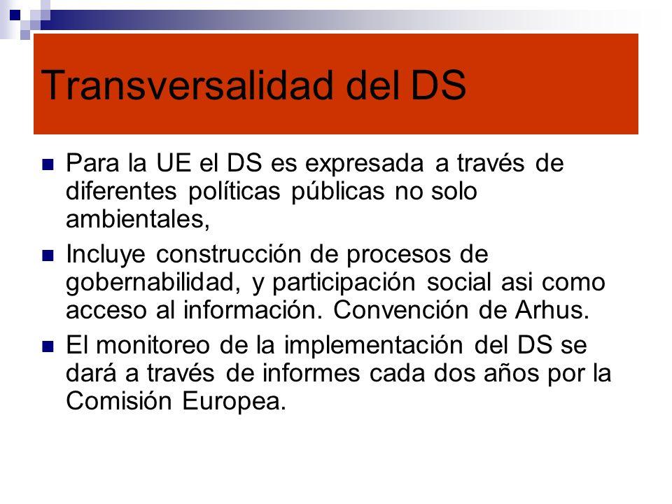 Transversalidad del DS
