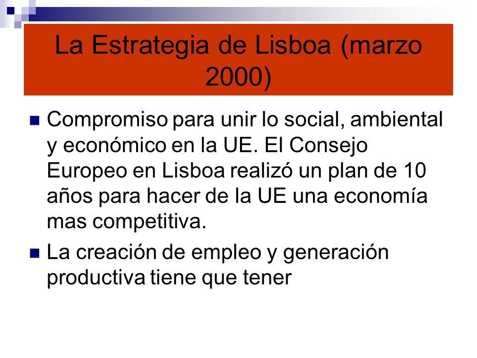 La Estrategia de Lisboa (marzo 2000)