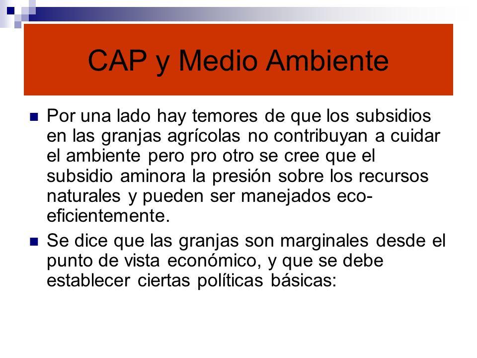 CAP y Medio Ambiente