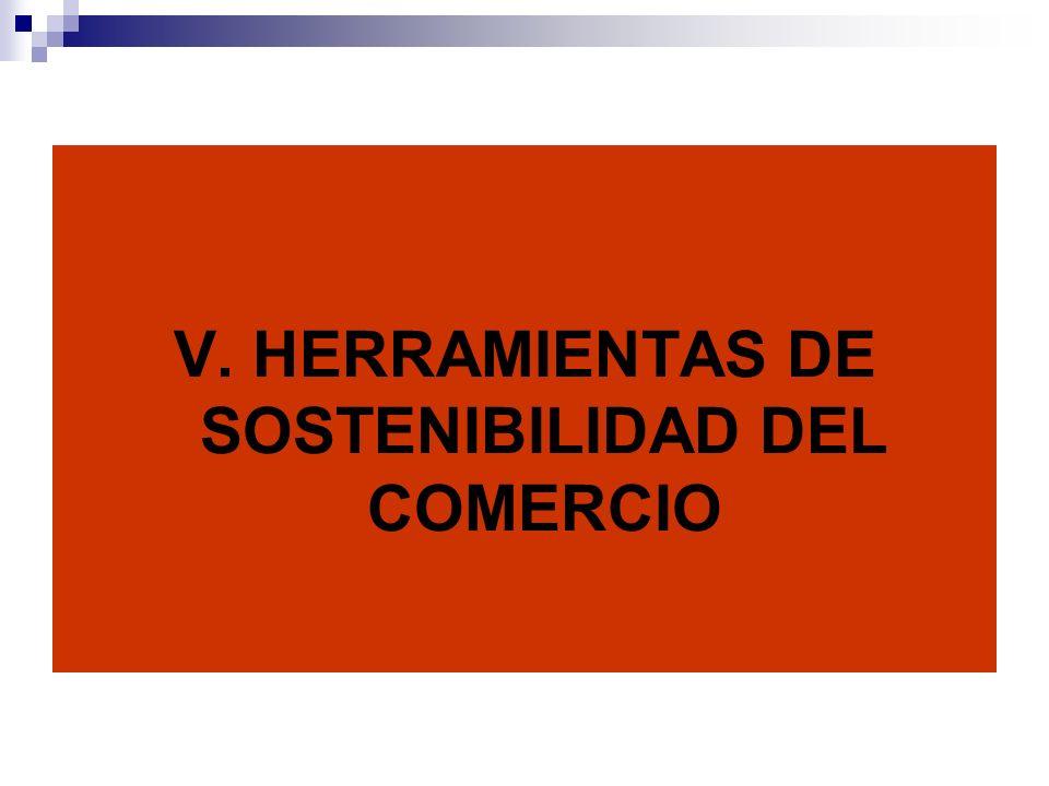 V. HERRAMIENTAS DE SOSTENIBILIDAD DEL COMERCIO