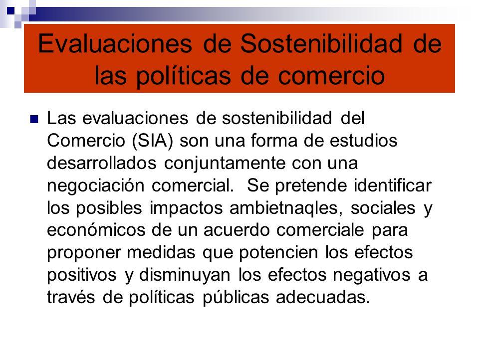 Evaluaciones de Sostenibilidad de las políticas de comercio