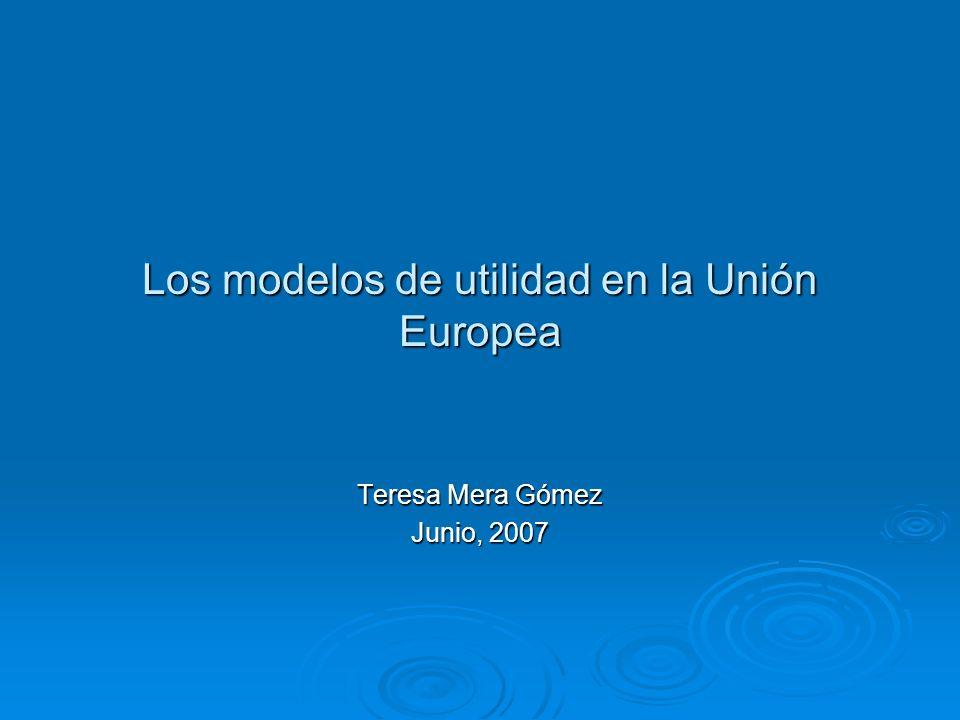 Los modelos de utilidad en la Unión Europea