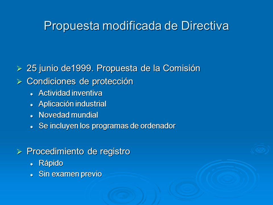 Propuesta modificada de Directiva