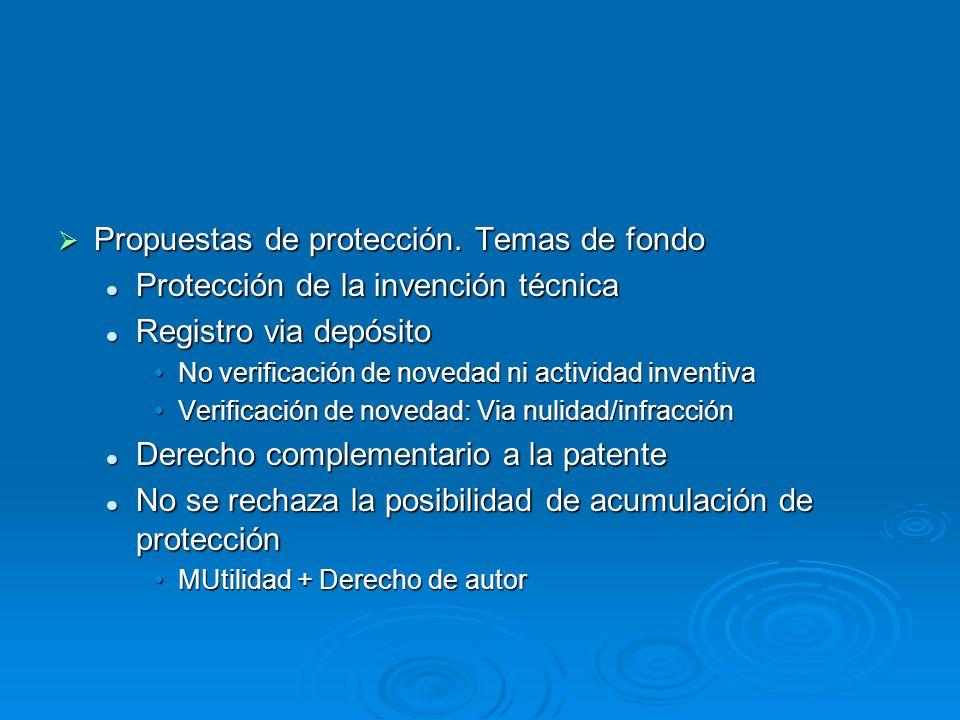 Propuestas de protección. Temas de fondo