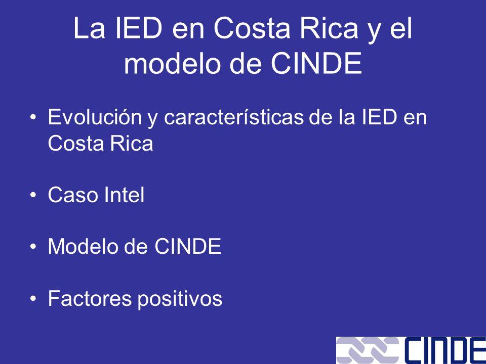 La IED en Costa Rica y el modelo de CINDE