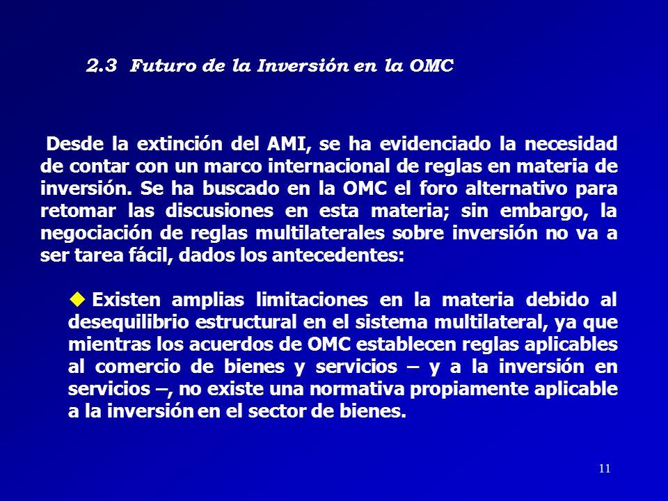 2.3 Futuro de la Inversión en la OMC