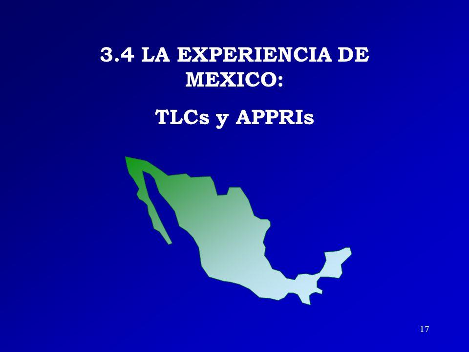 3.4 LA EXPERIENCIA DE MEXICO: