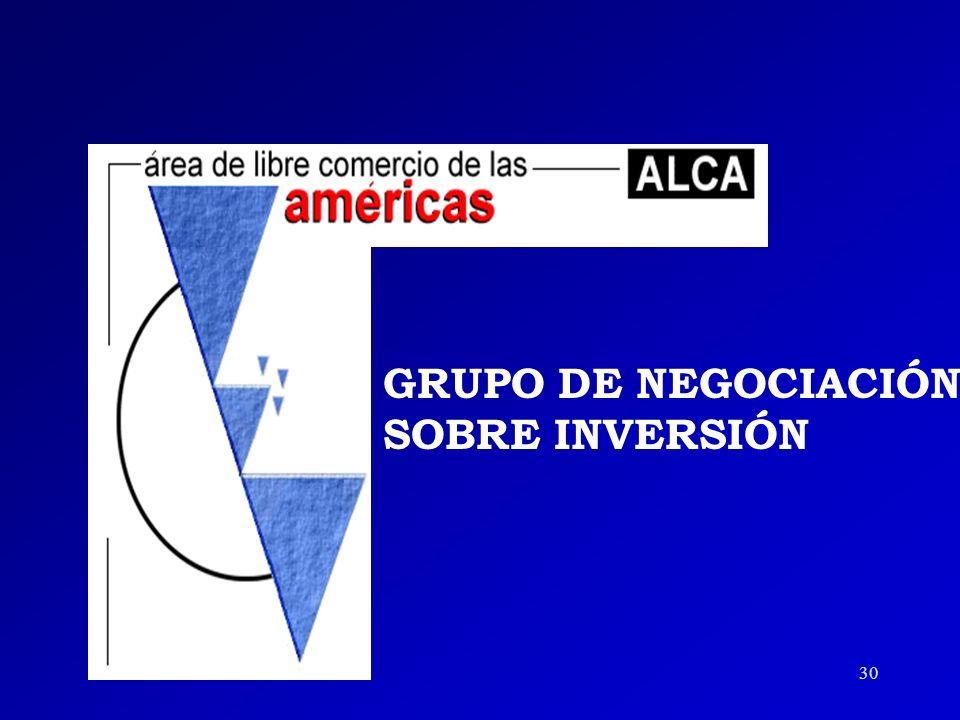 GRUPO DE NEGOCIACIÓN SOBRE INVERSIÓN