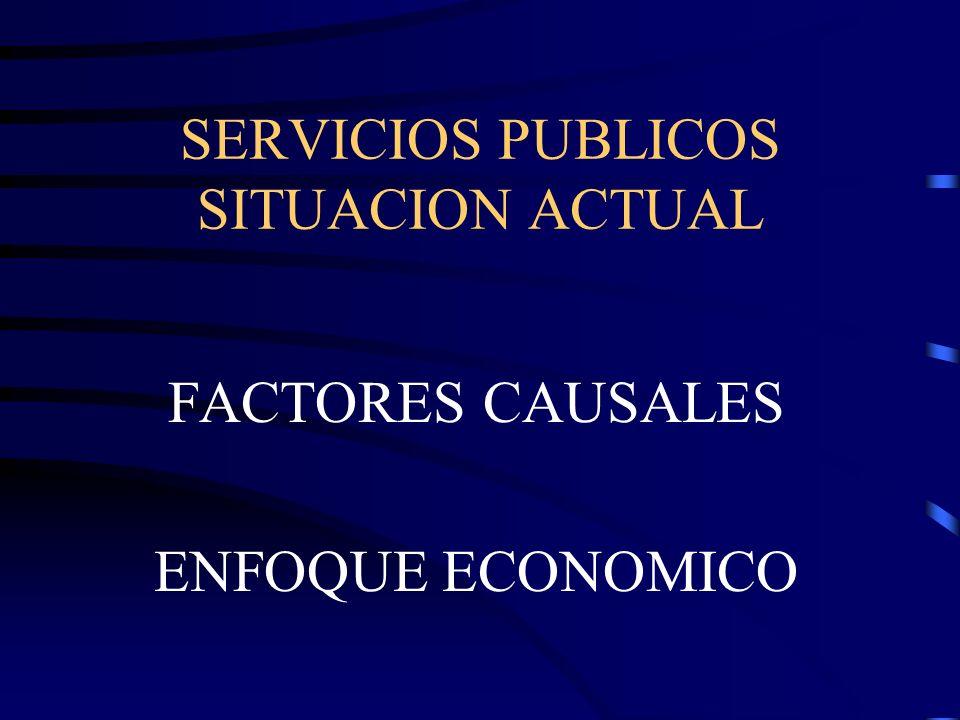 SERVICIOS PUBLICOS SITUACION ACTUAL